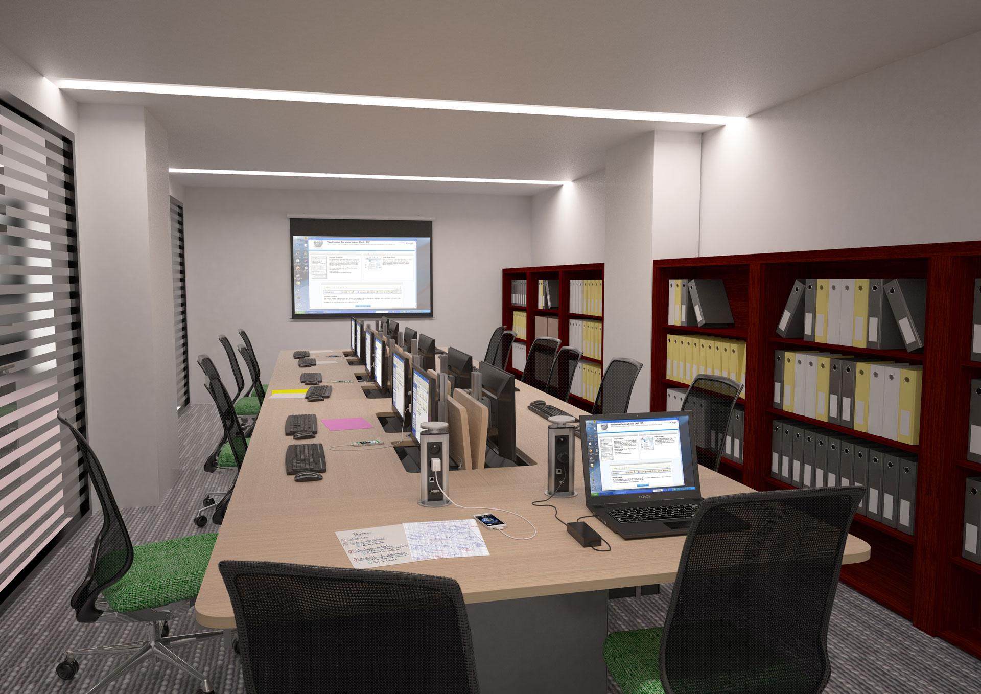 Mobilier pour salles de formation modulable en salle de réunion