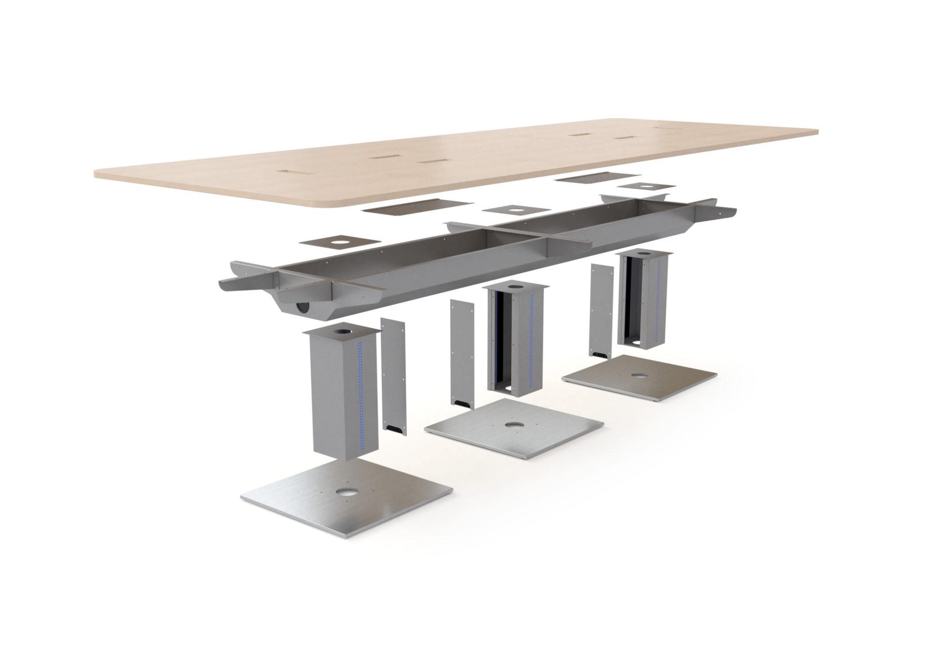 Structure d'une table de réunion