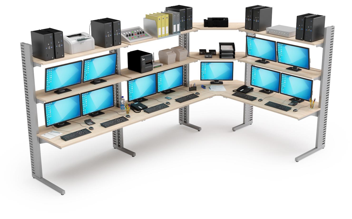 Stations informatiques modulables pour salles serveurs