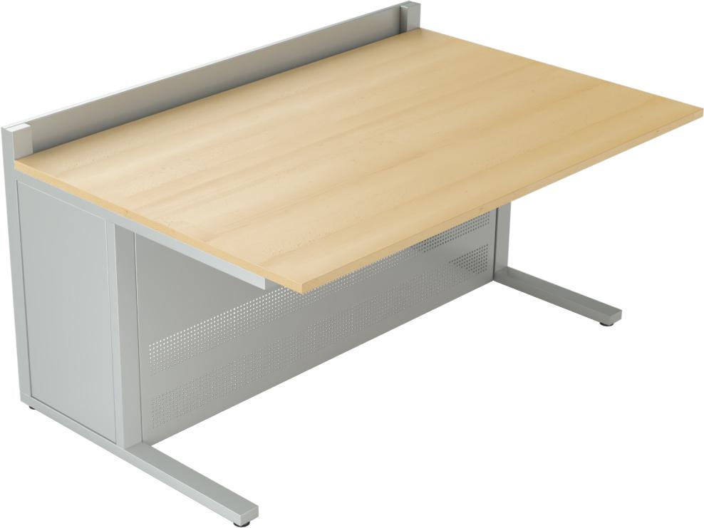 Mobilier pour salles de contrôle : Pupitre informatique EGIC'DESK S.1 avec caisson de 450mm
