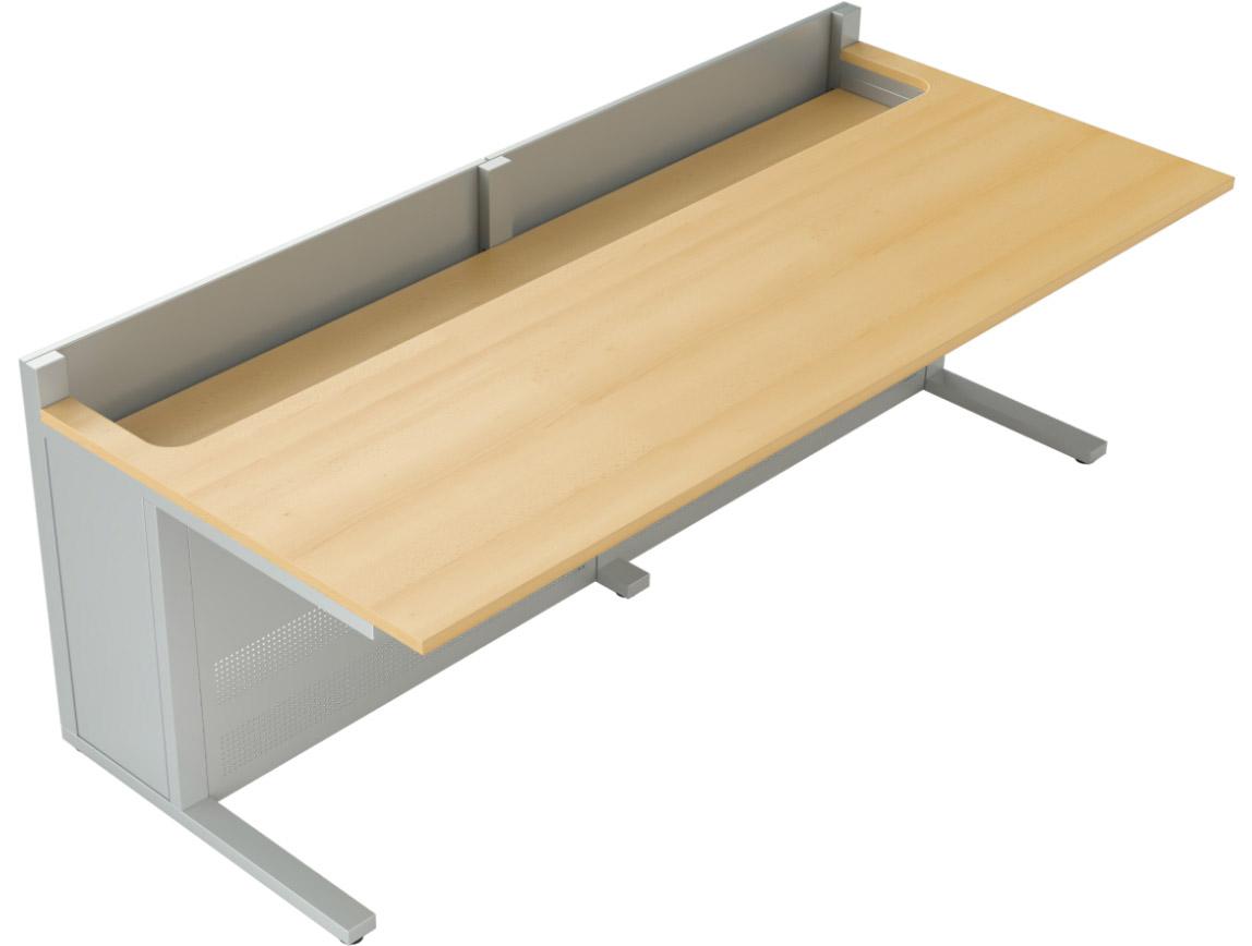 Mobilier pour salles de supervision : pupitre double
