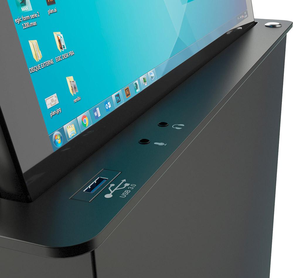 Panneau de contrôle d'écran compact rétractable