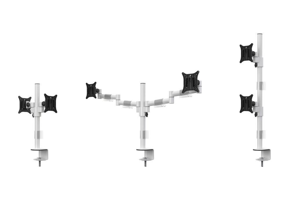 Bras support écrans mécaniques pour 4 écrans