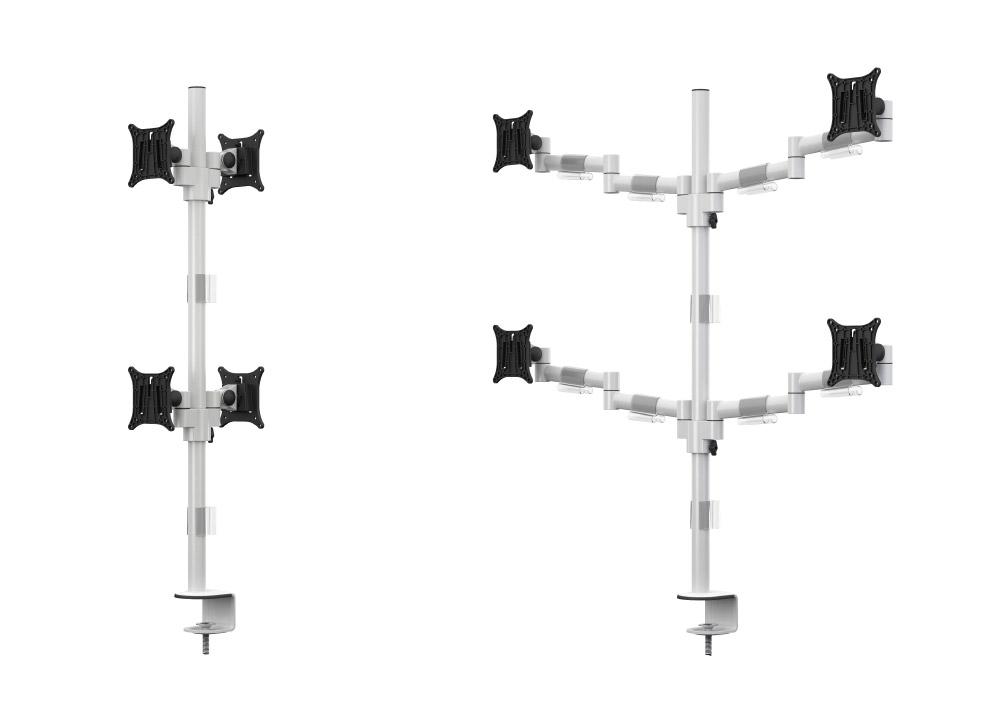 Bras support écran mécanique pour 4 écrans