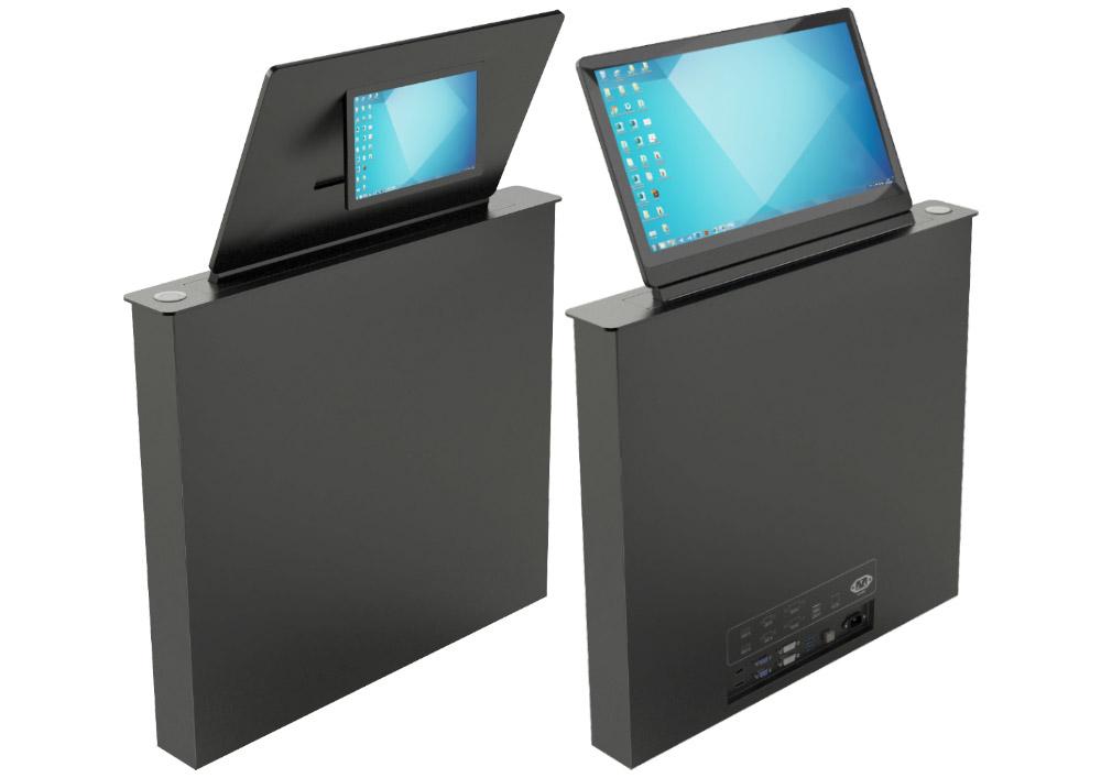 Ecran rétractable avec mini-écran d'information au dos