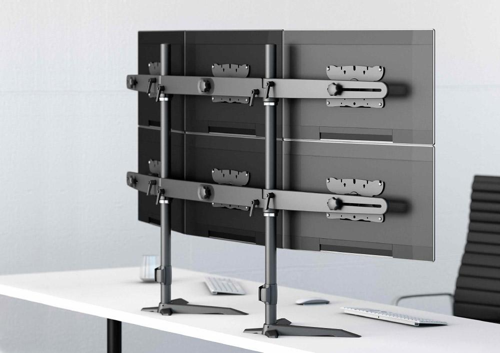 Portique multi-écrans sur bureau