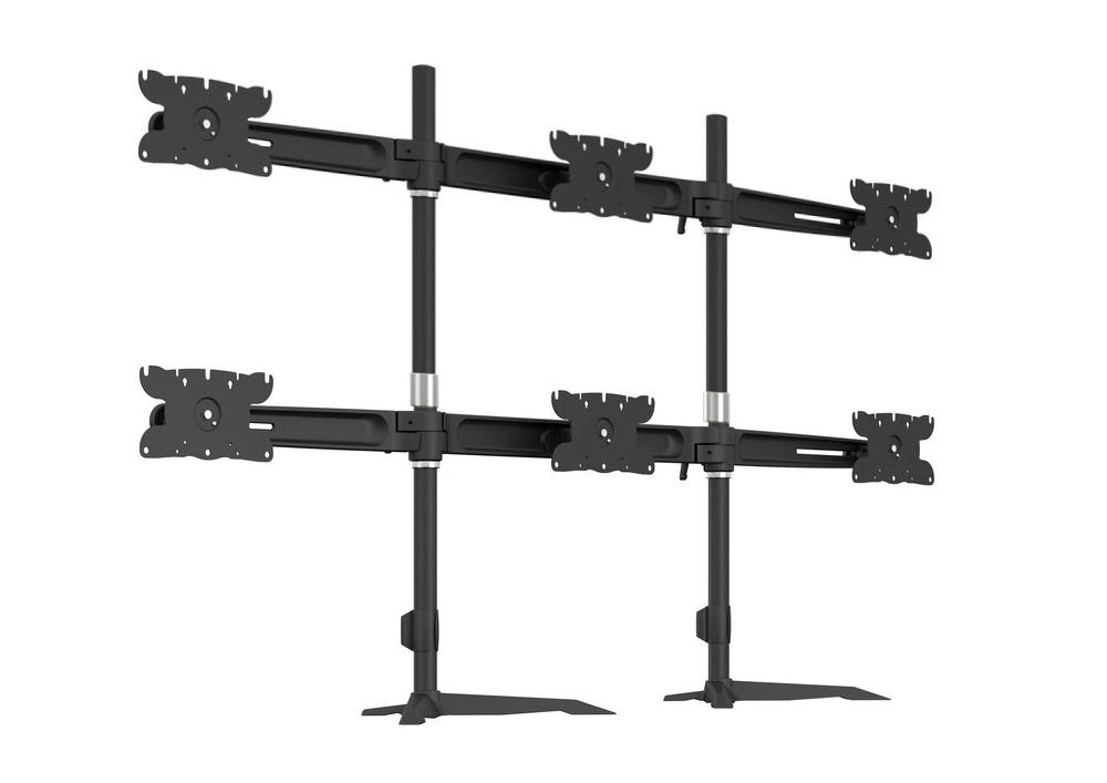 Portiques multi-écrans pour 6 écrans
