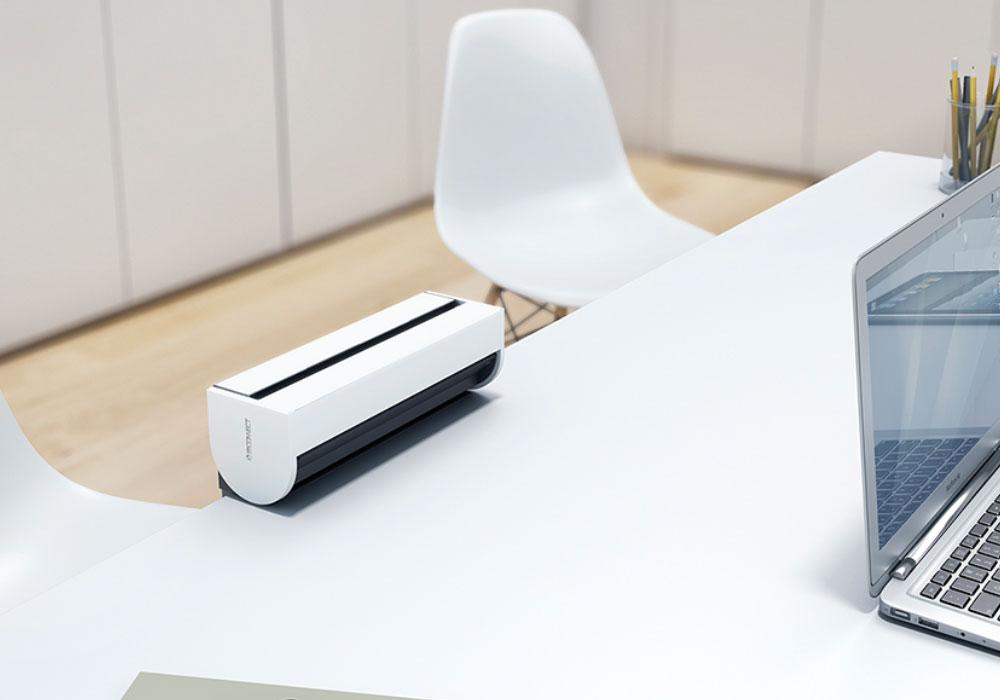 Bandeau multiprise de bureau avec capot de protection