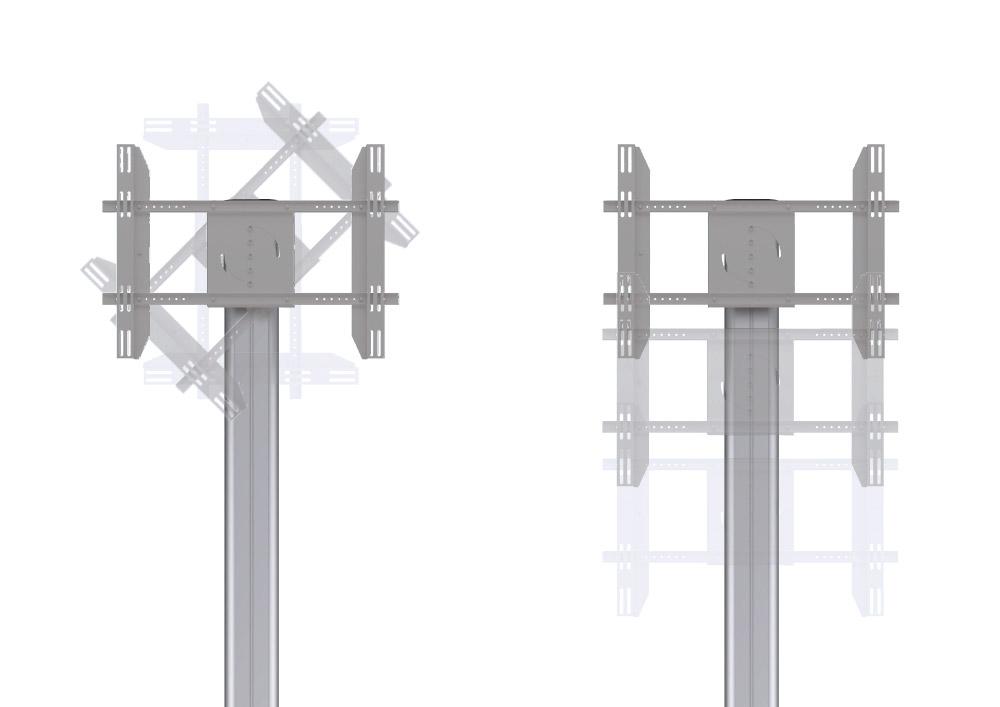 """Fixation support mobile motorisé pour écran de 60"""""""