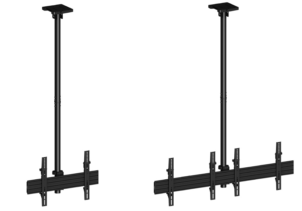 Supports plafond pour 1 ou 2 écrans