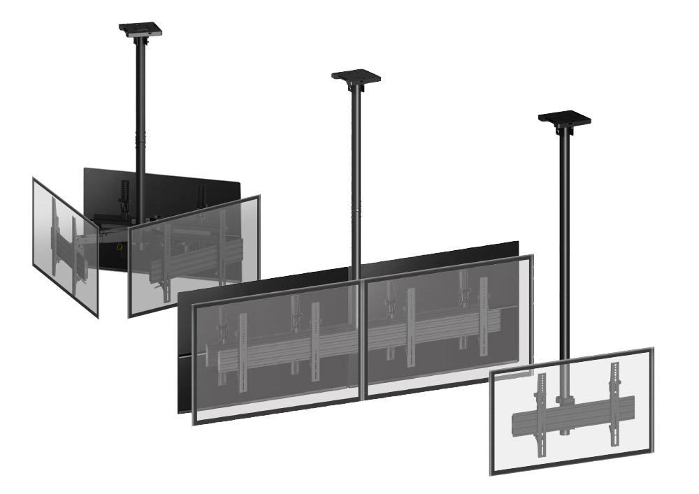 Supports plafond pour écrans