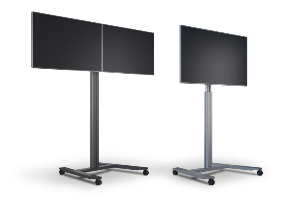 Supports mobiles pour 1, 2 ou 3 écrans