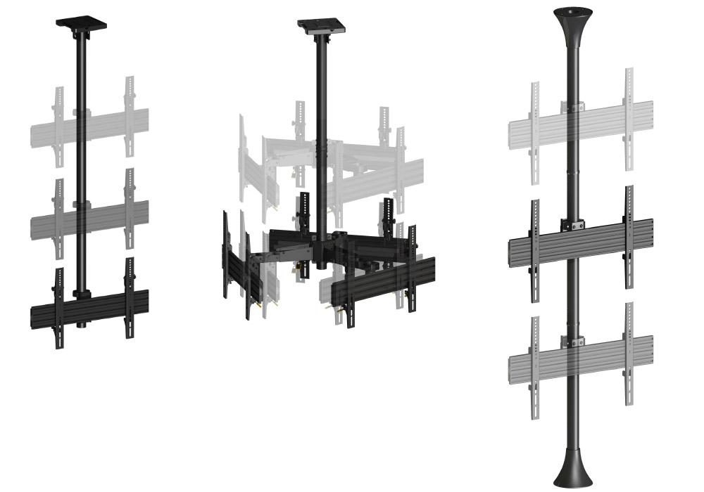 Support plafond et sol-plafond modulables