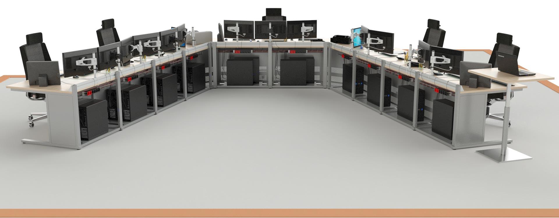 Salle de supervision avec console opérateur EGIC'DESK