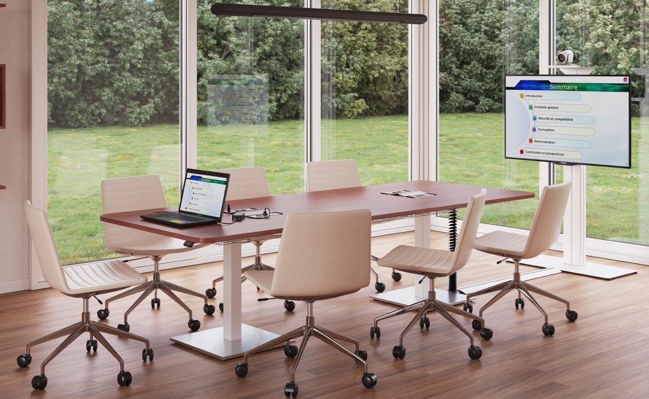 salle de réunion et visioconférence