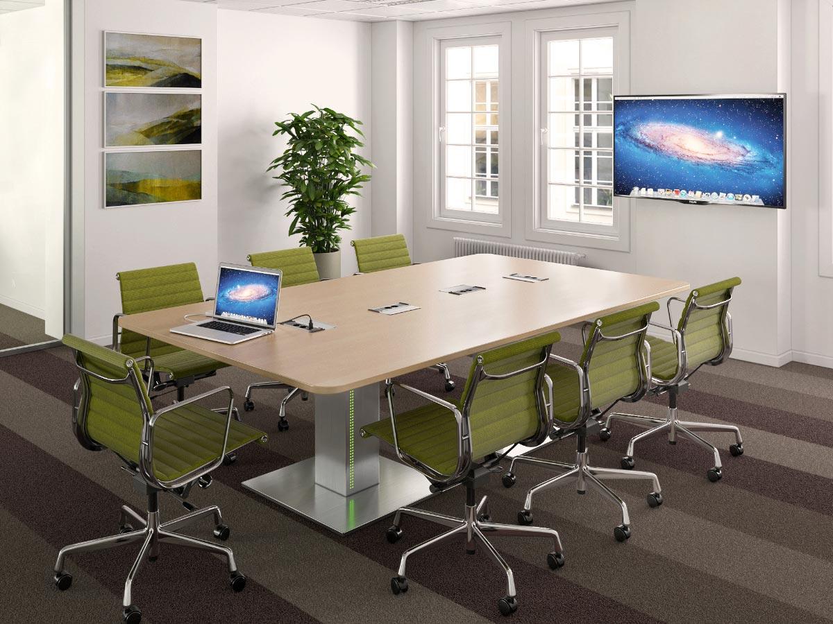 Table de réunion et de visioconférence