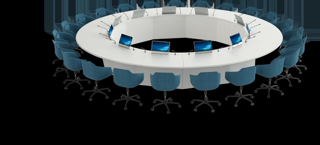 Table de réunion connectée