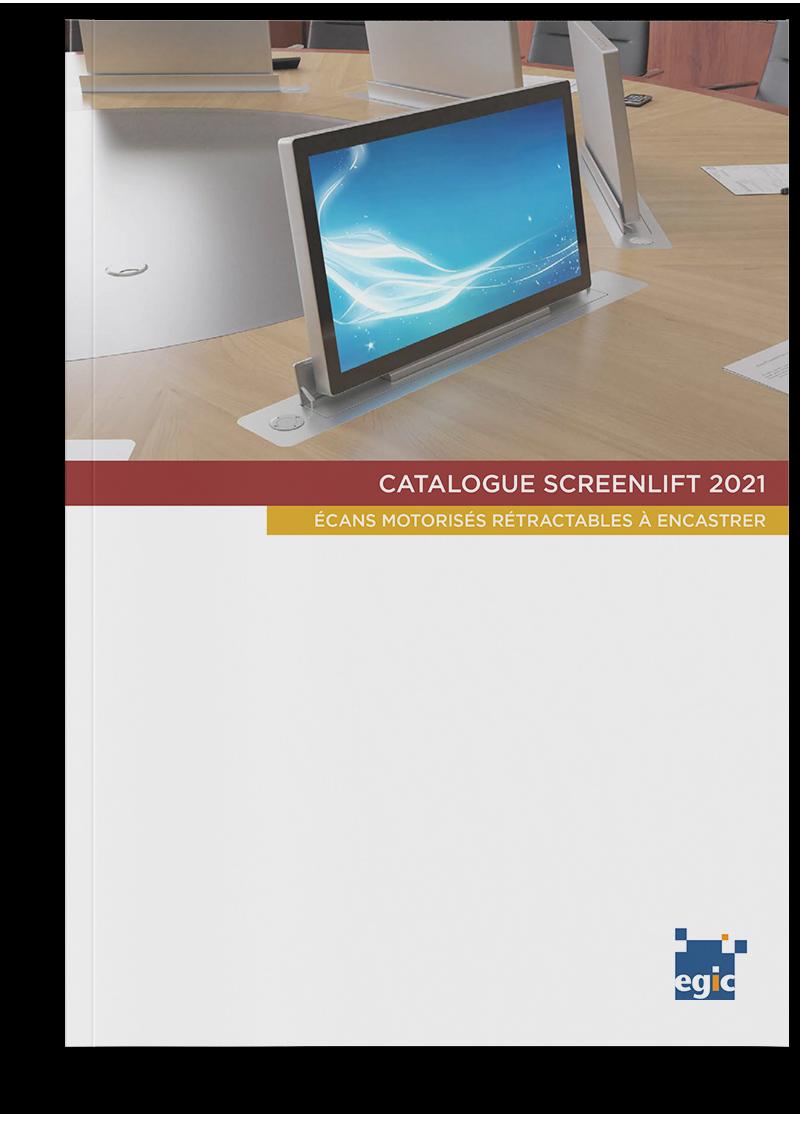 Catalogue des écrans rétractables SCREENLIFT