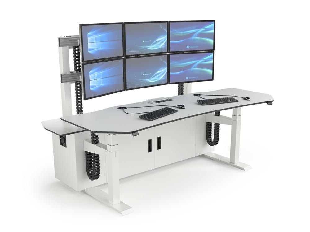 Poste de supervision multi-écrans pour salles de contrôle et salles de marchés