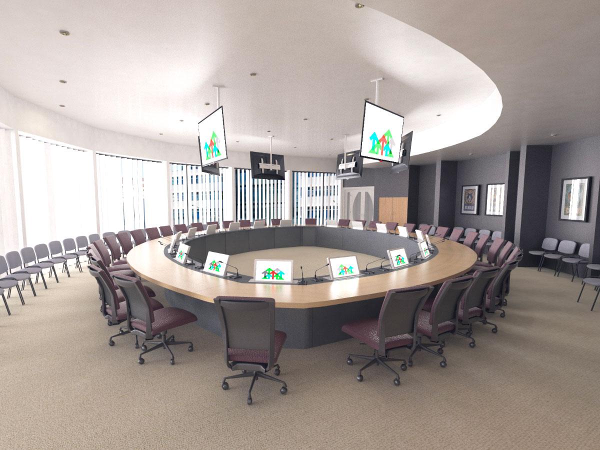 Solutions d'intégration audiovisuelle pour salles de réunion
