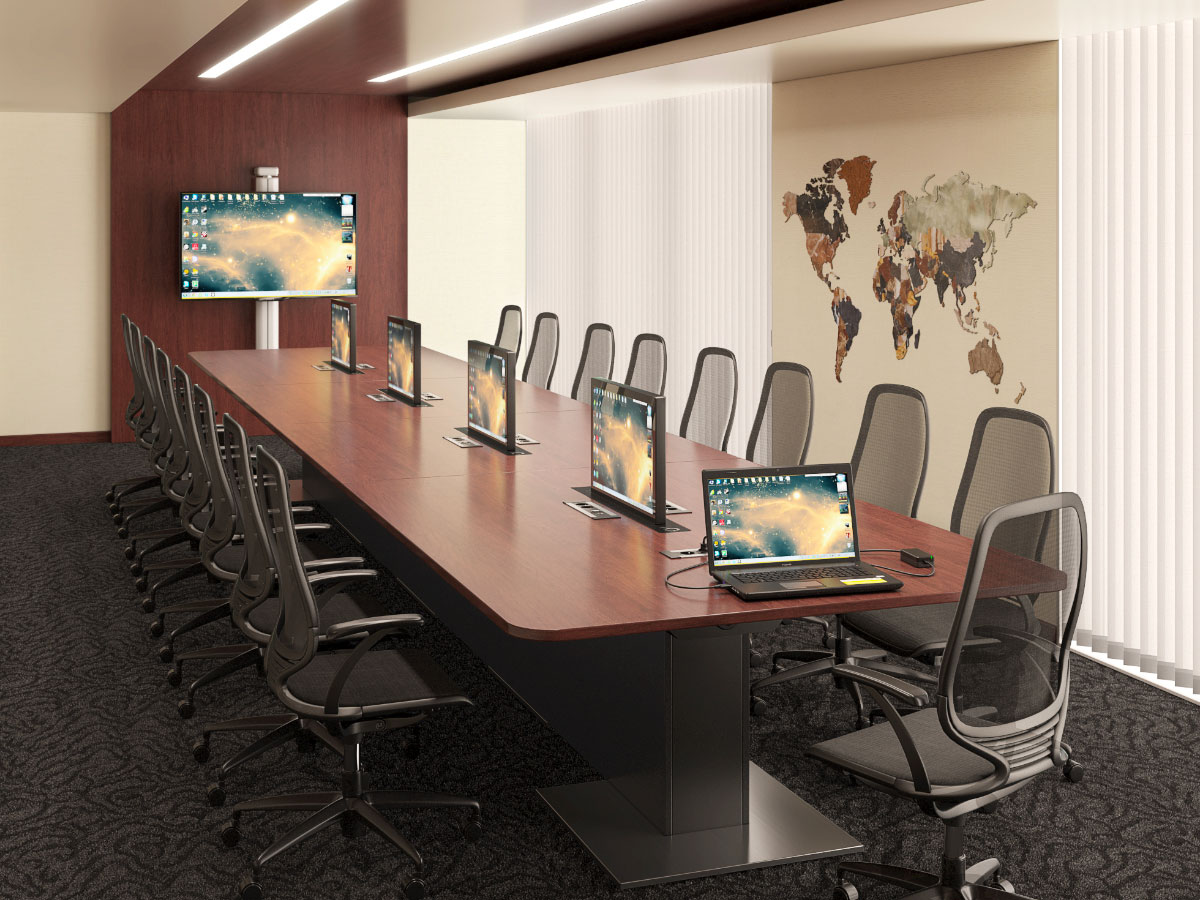 Intégration audiovisuelle pour salles de réunion