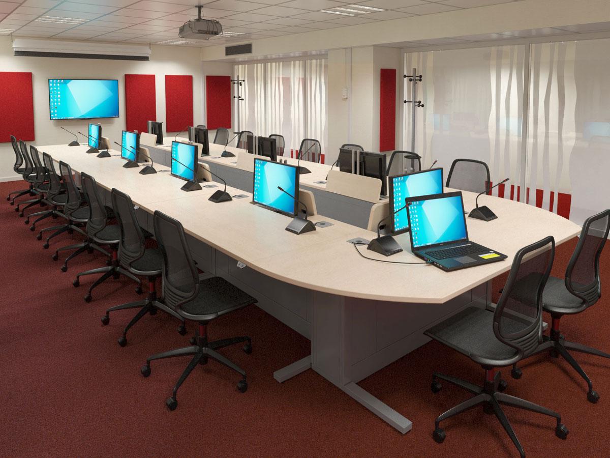 Intégration audiovisuelle pour salles de crise