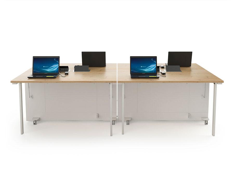 Les postes de travail mobiles peuvent être connectés entre eux