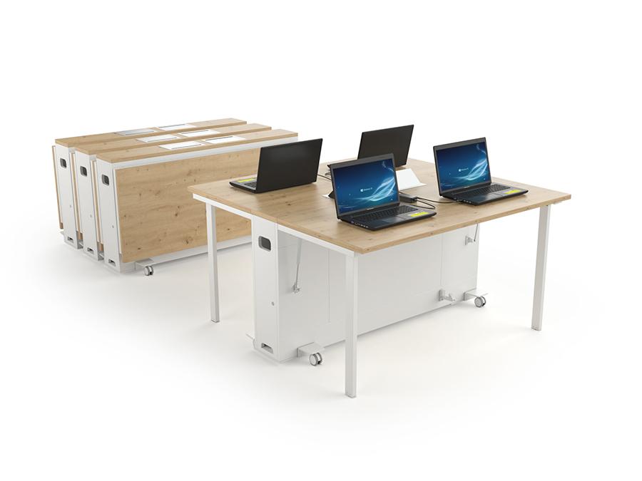 Les postes de travail mobiles permettent d'optimiser l'espace