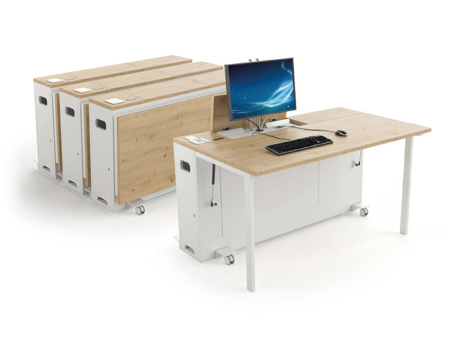 Bureau informatique mobile et compact