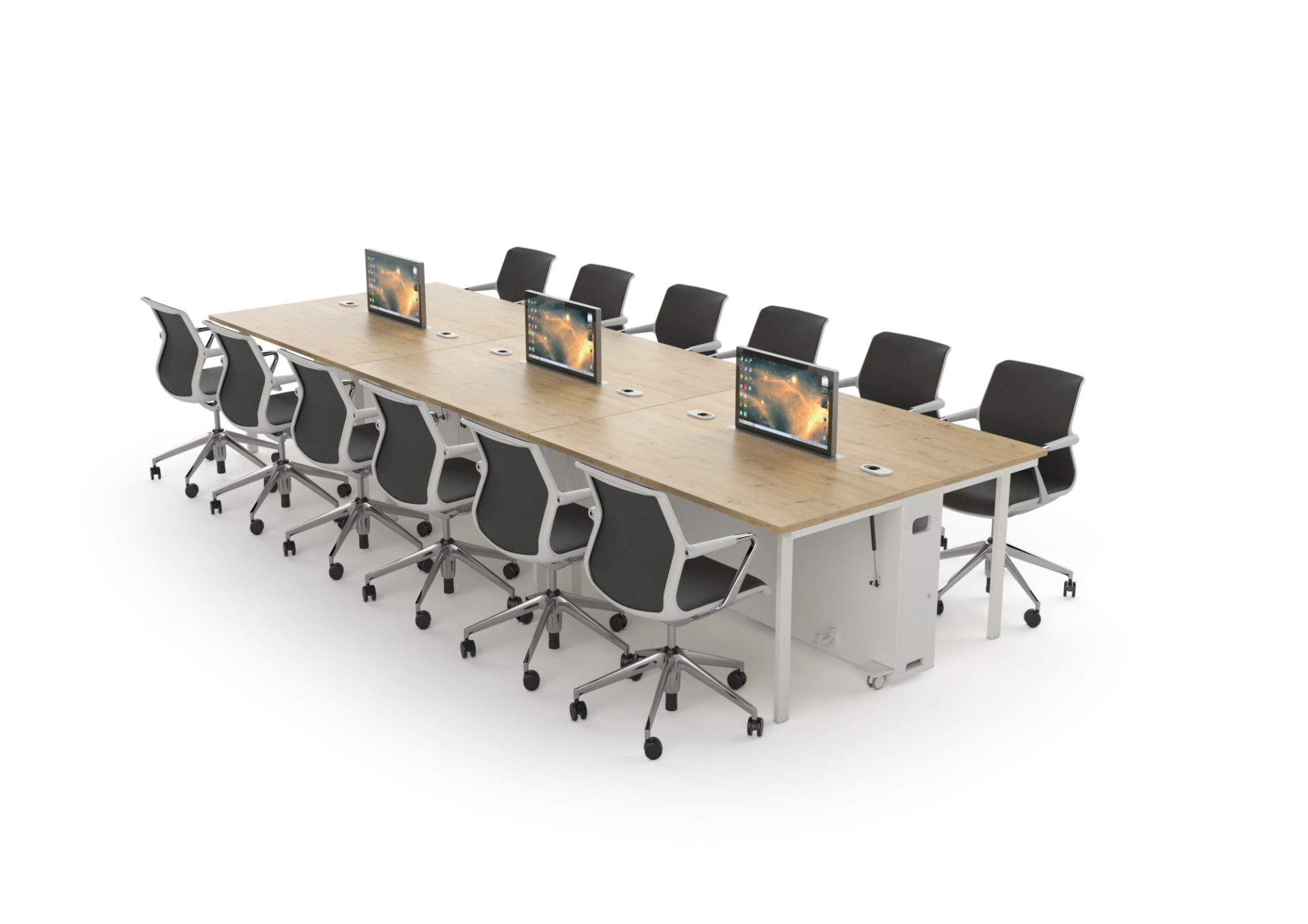 LEs postes de réunion mobiles permettent de créer des implantation à volonté