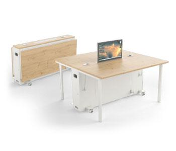 mobilier de réunion mobile et pliable, avec écrans rétractable